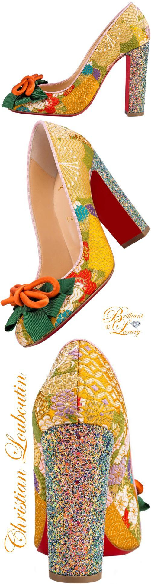 Boda - DOLLY DOLA TISSU OBI/GLITTER DRAGONFLY 100 Pollen Fabric - Women Shoes - Christian Louboutin