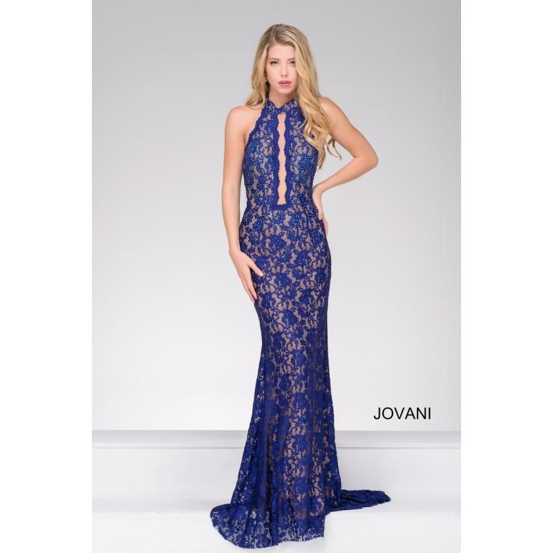Wedding - Jovani 45169 Halter Gown with Sexy Front Cutout - Brand Prom Dresses
