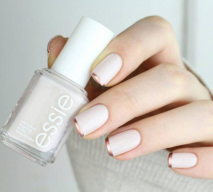 Wedding - Rose Gold French Manicure