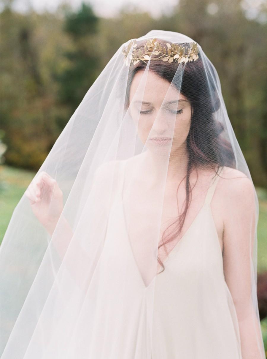 Boda - Drop Veil, simple wedding veil, chapel veil, cathedral veil, wedding veil, raw edge veil, ivory drop veil, bridal veils, blusher veil  #301
