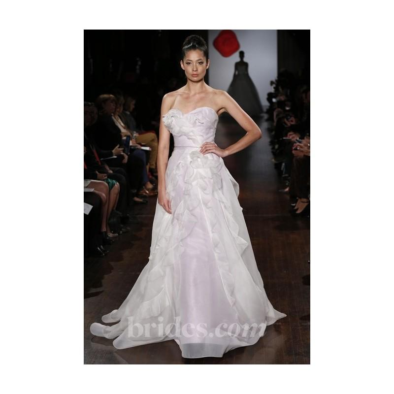 Boda - Austin Scarlett - Fall 2013 - Strapless Ruffled A-Line Wedding Dress - Stunning Cheap Wedding Dresses