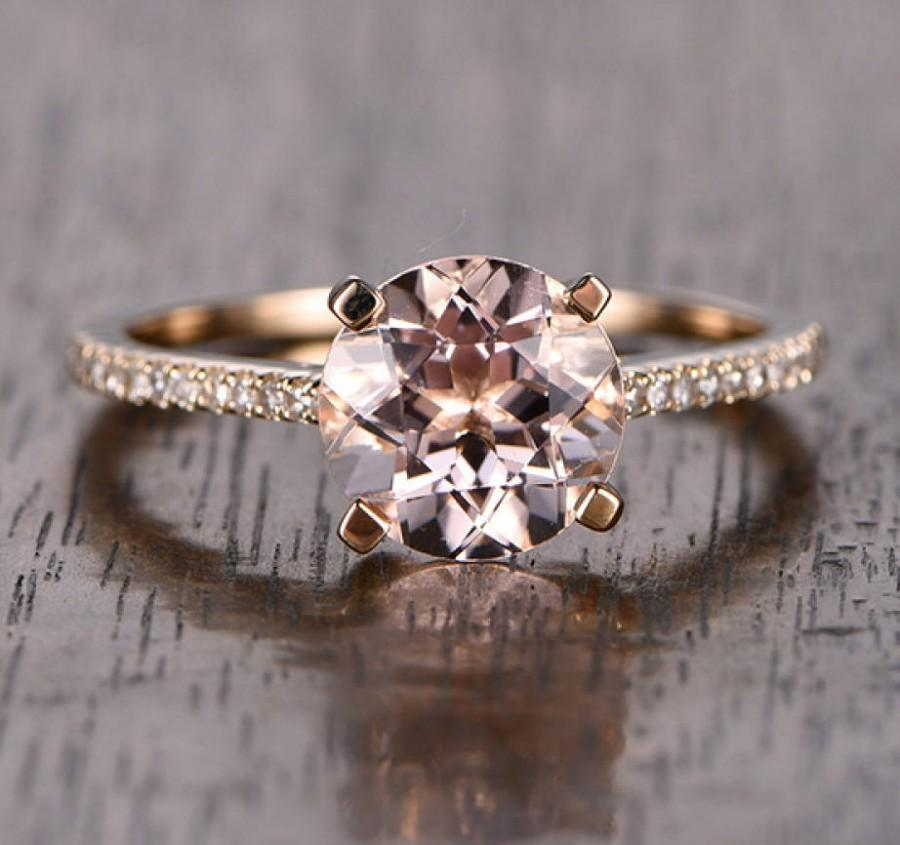 a521bc75d18fb Limited Time Sale: 1.25 Carat Peach Pink Morganite (Round Cut ...