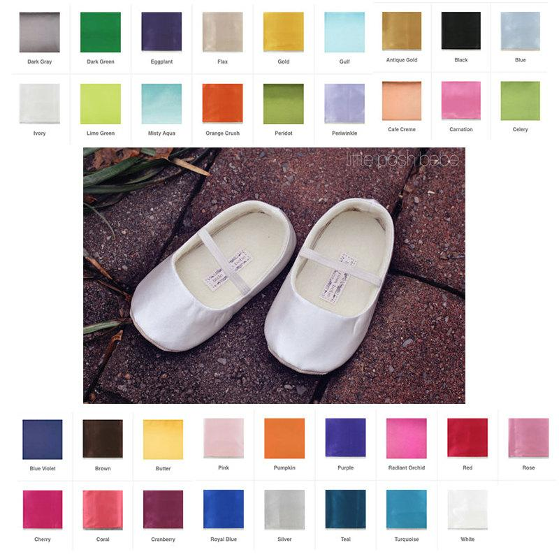 b1279ad123 Baby Girl Shoes Satin Toddler Girl Shoes Ivory Soft Soled Shoes ...