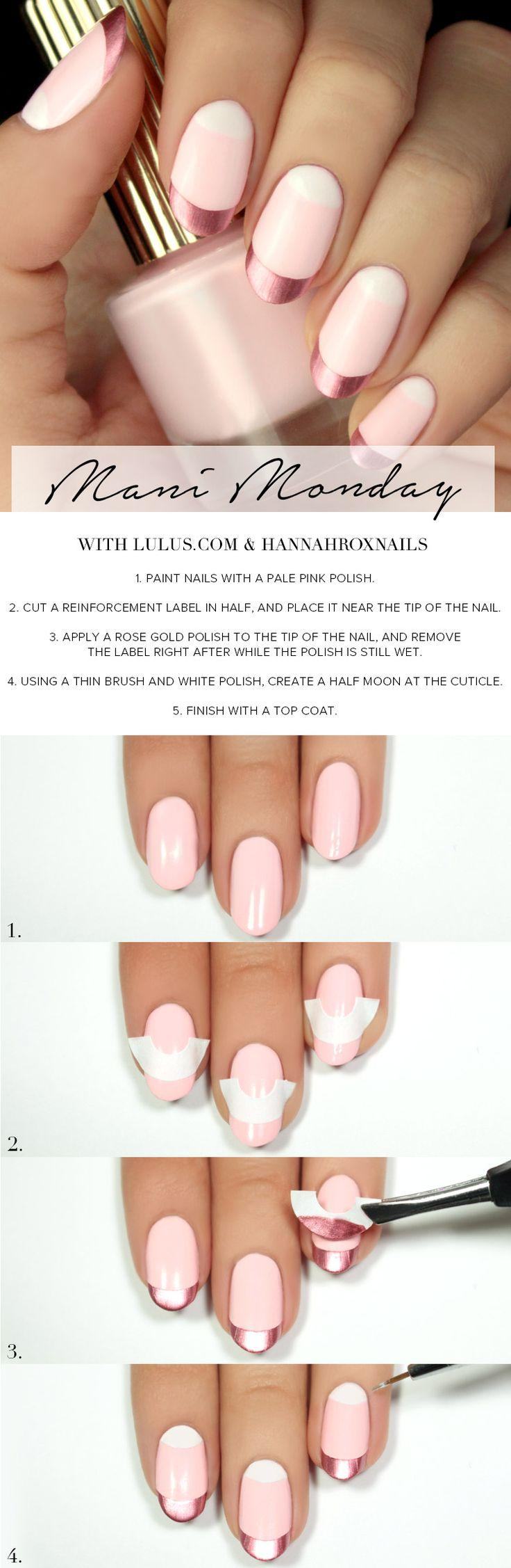 Clouer - Pink And White French Manicure Tutorial #2781511 - Weddbook