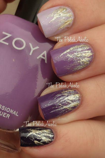 زفاف - Purple Rainbow Nails