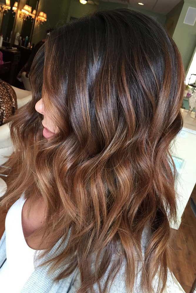 Свадьба - 35 Balayage Hair Ideas In Brown To Caramel Tone