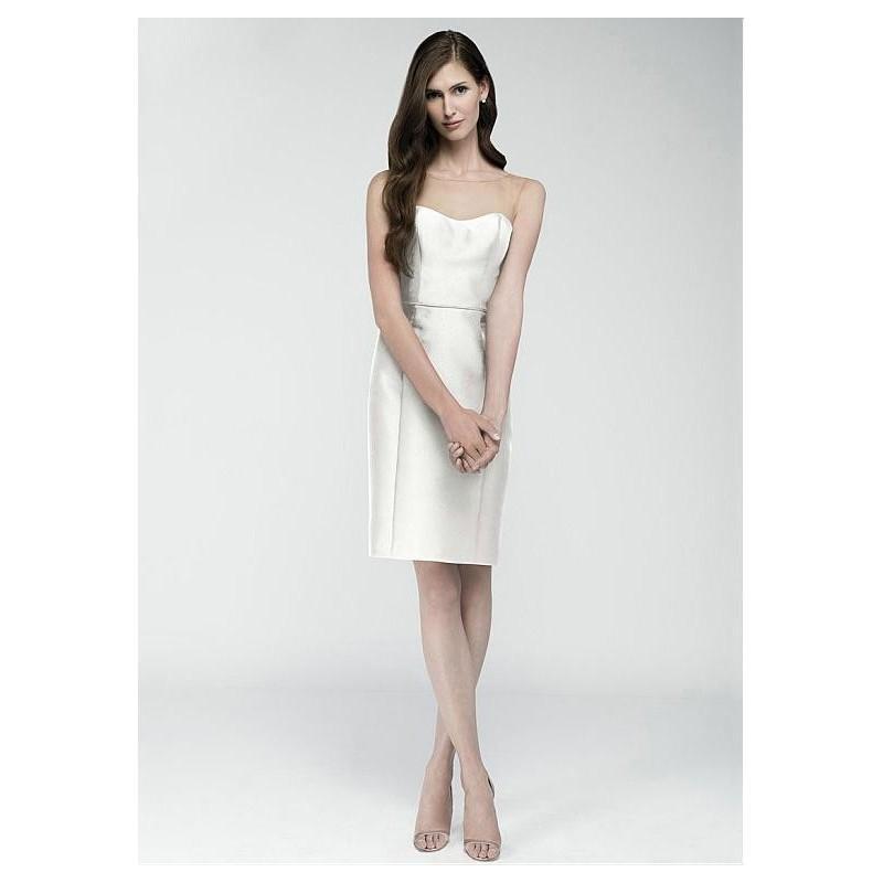 Wedding - Pretty Satin Bateau Neckline Natural Waistline Short Sheath Wedding Dress - overpinks.com