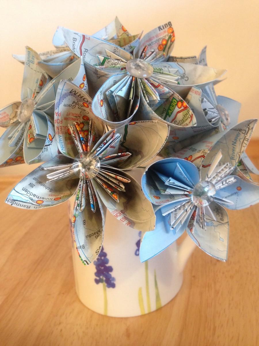 Paper Flower Bouquet, Bridal Bouquet, Paper Flowers, Alternative ...