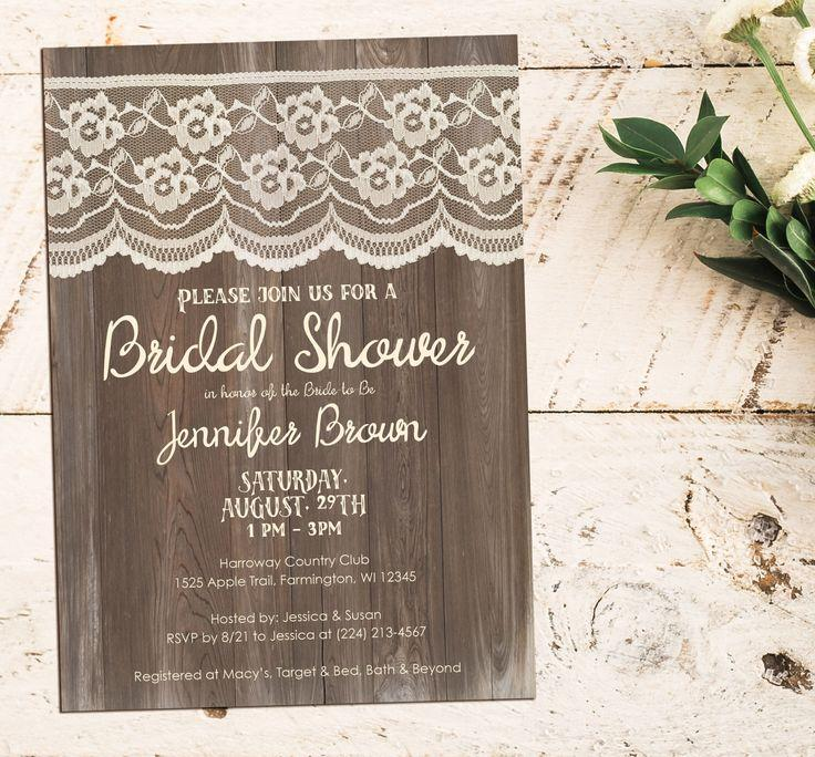 Wedding - Bridal Shower Invitations And Ideas