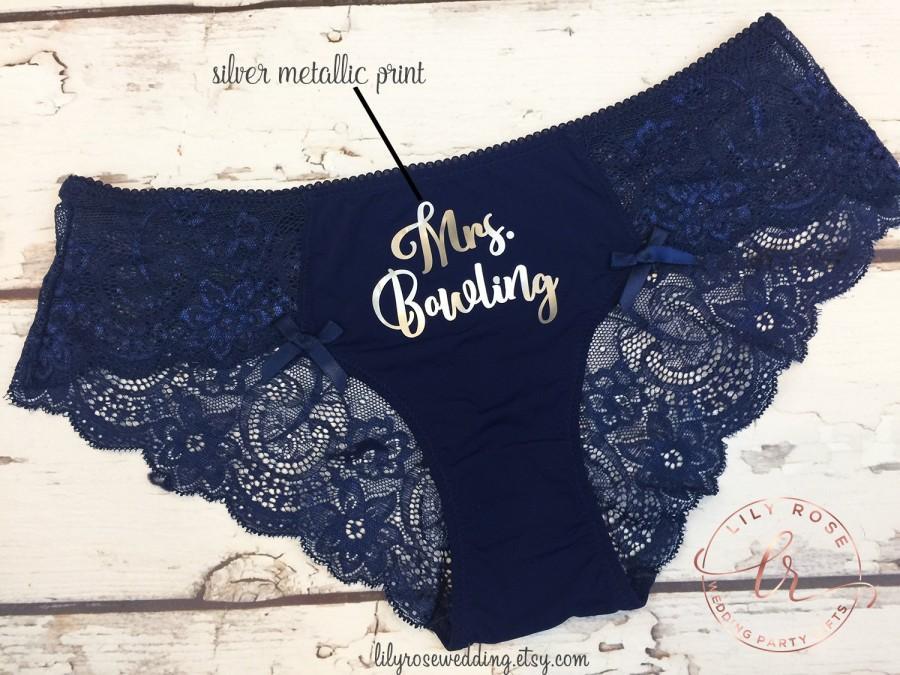 Свадьба - Personalized Lingerie, Bride Panty, Bridal Shower Gift, Panties, Personalized Panties Underwear, Honeymoon, Bachelorette Gift, Bride Gift