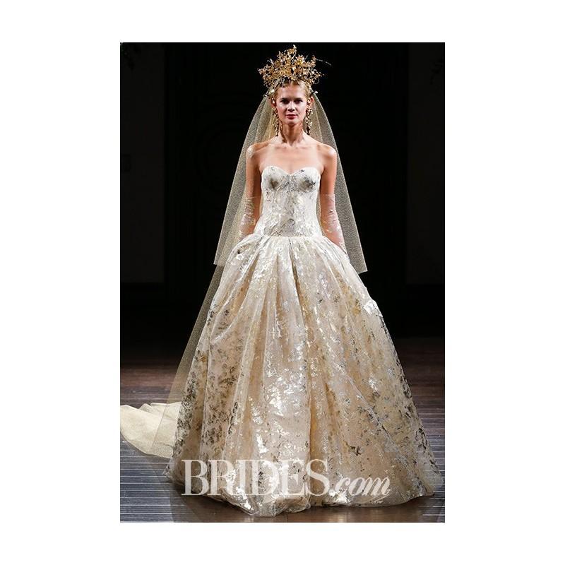 Naeem Khan Fall 2017 El Dorado Stunning Cheap Wedding Dresses