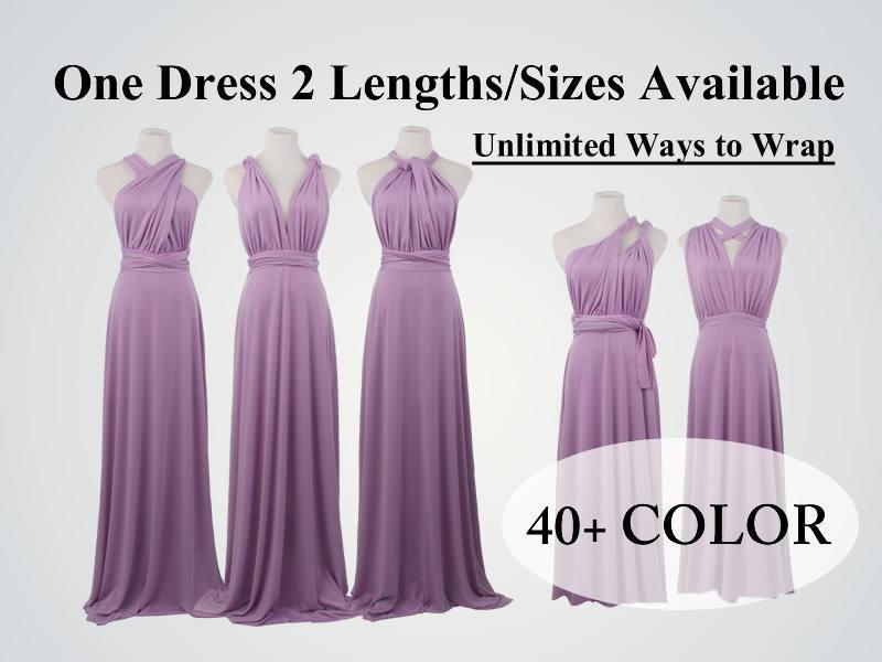 Lavender Convertible Bridesmaid Dresses, Long Lilac Convertible ...