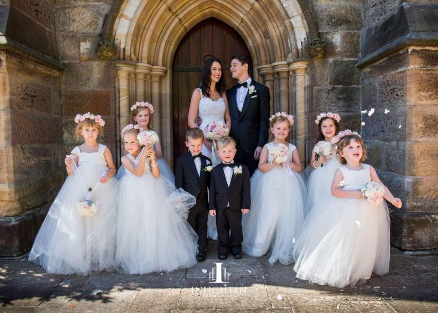 زفاف - As Seen on The Daily Telegraph Flower Girl Dress, Ivory dresses, tutu dress, tulle dress, floor length, frock, ivory white