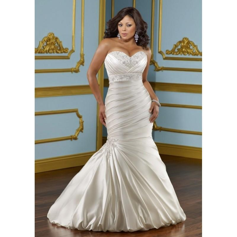 Wedding - Mori Lee Julietta 3116 - Mermaid Mori Lee Long Plus Size Wedding Sweetheart Dress - 2017 New Wedding Dresses