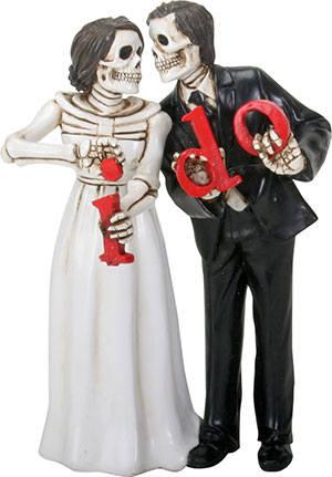 Halloween Wedding Cake Toppers-Love Never Dies Bride And Groom I ...