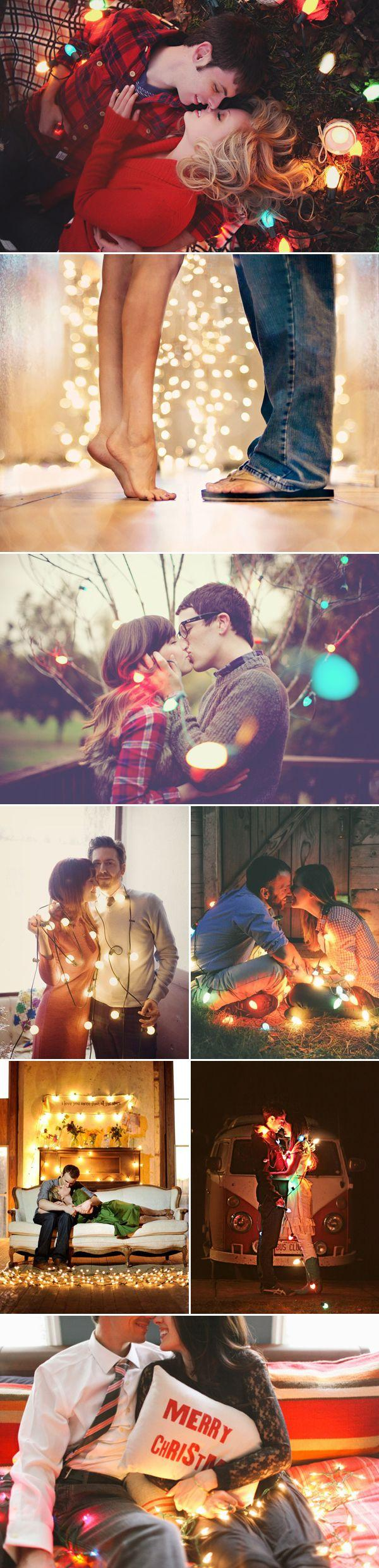 Свадьба - 20 Cute Christmas Photo Ideas For Couples To Show Love