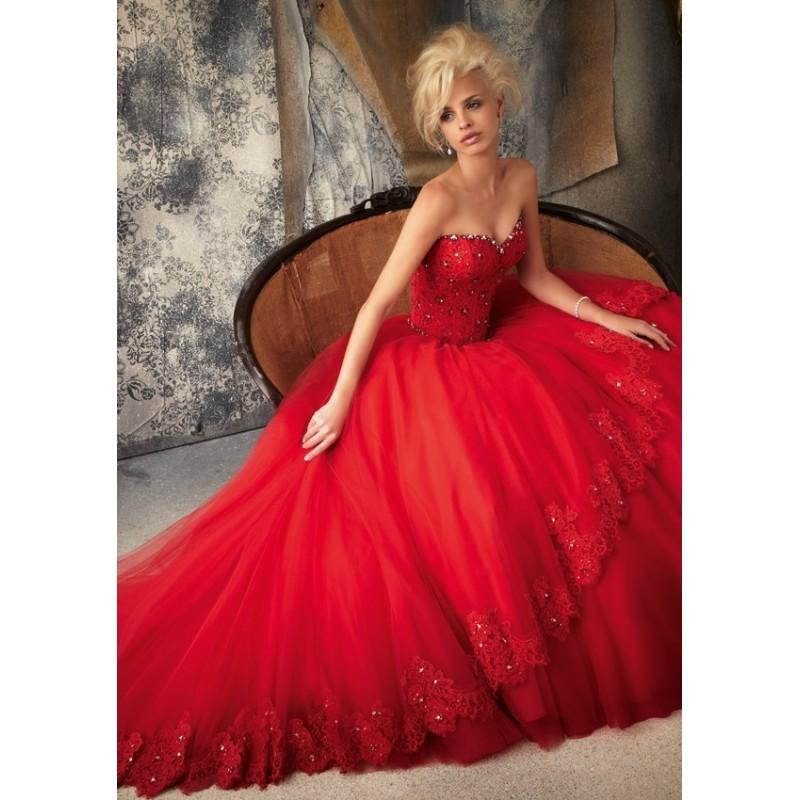 Mori Lee 1925 Tulle Ball Gown Wedding Dress - Crazy Sale Bridal ...
