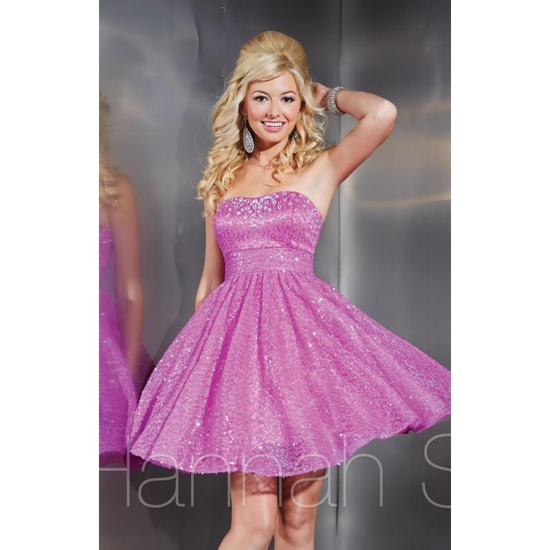 Wedding - Geranium Hannah S 27863 - Short Sequin Dress - Customize Your Prom Dress