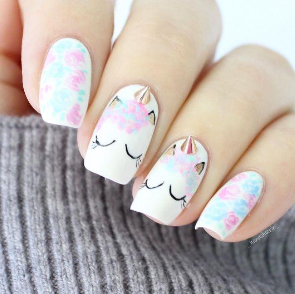 Hochzeit - Unicorn Nails