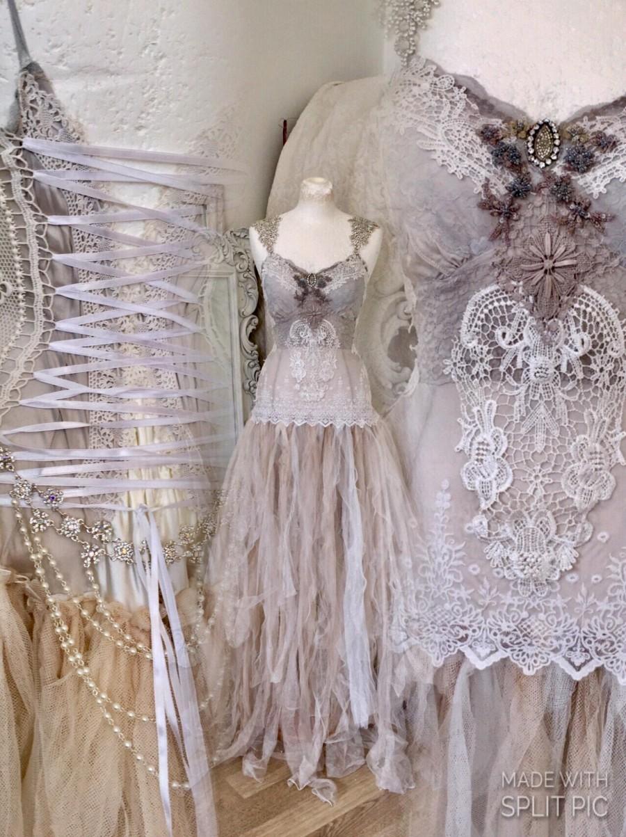 زفاف - Wedding dress alternative,beach wedding dress,wedding dress lace,beautiful bridal gown,Vintage wedding,Victorian wedding,beach wedding dress
