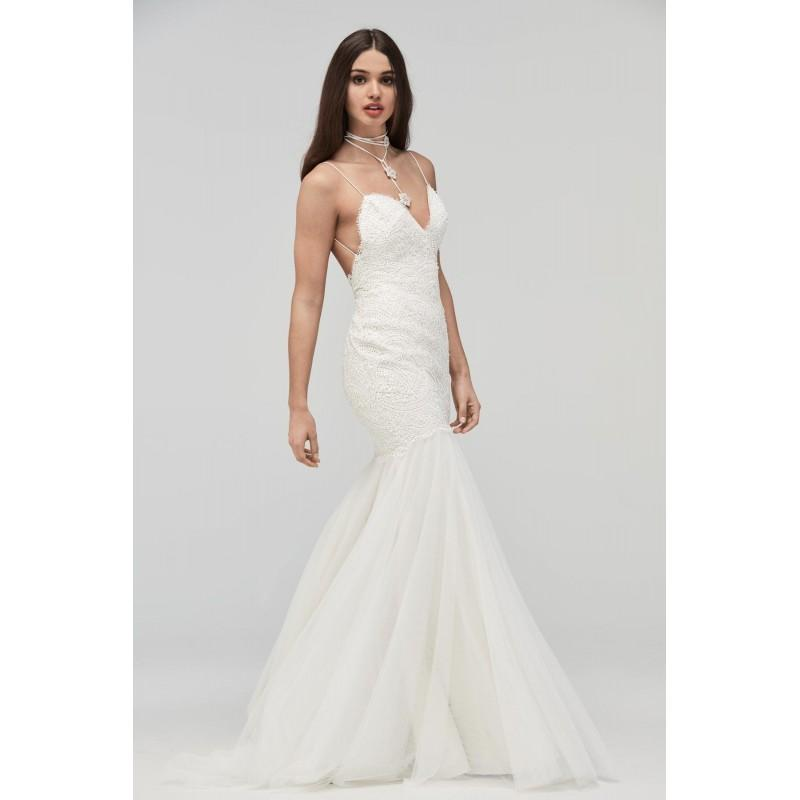 Real Brides Fit And Flare: WToo By Watters 19704B Gwendolyn Open Back Fit & Flare