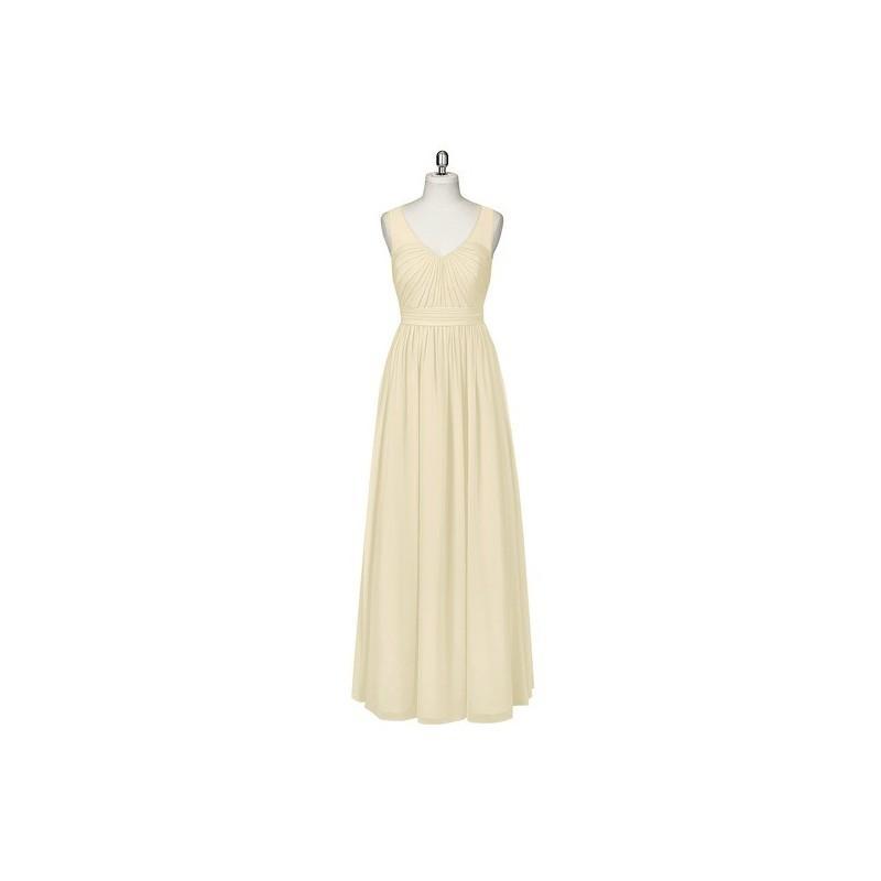 Свадьба - Champagne Azazie Raquel - Floor Length Illusion V Neck Chiffon Dress - Cheap Gorgeous Bridesmaids Store
