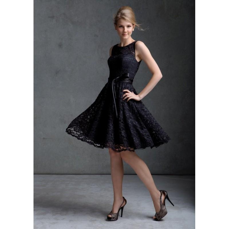 Hochzeit - Mori Lee Bridesmaids 31004 Short Boat Neck Lace Dress - Crazy Sale Bridal Dresses