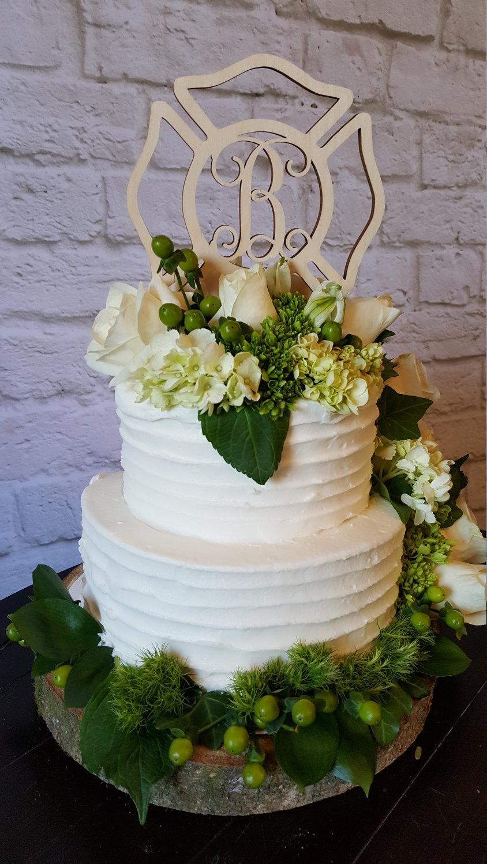 Wedding - Maltese Cross Cake Topper - Painted Wooden Monogram Cake Topper - Wedding Cake Topper - Birthday Cake Topper