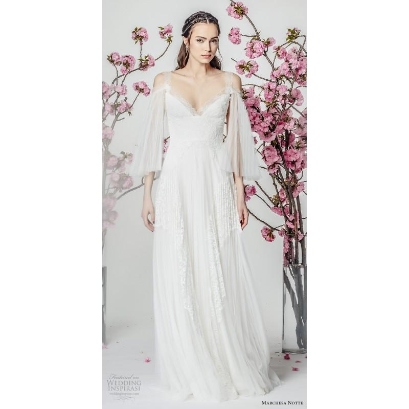Marchesa Notte Spring/Summer 2018 Sweet Aline Beach Bridal Dress ...