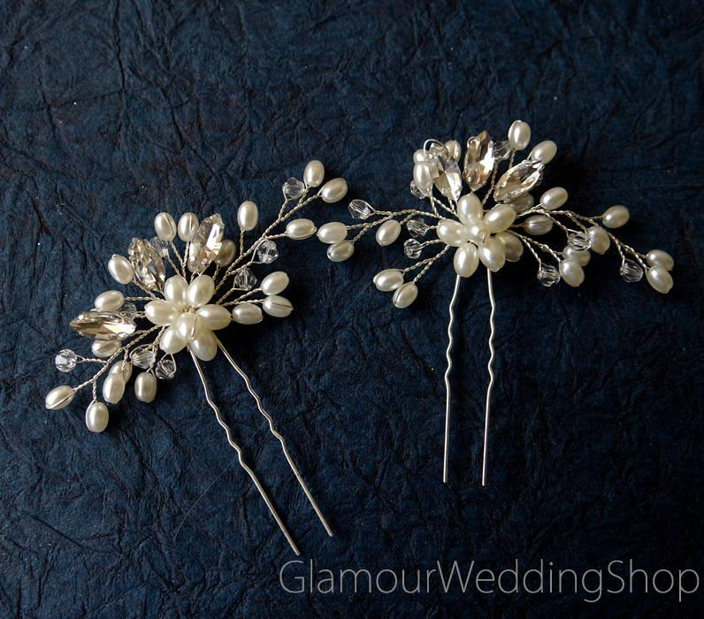 Wedding - Sale - Hair Pin Bridal Hair Pins Silver Bridal Headpiece Bridal Hairpiece Wedding Hair Bridal Hair Accessory Bridal Hair Piece