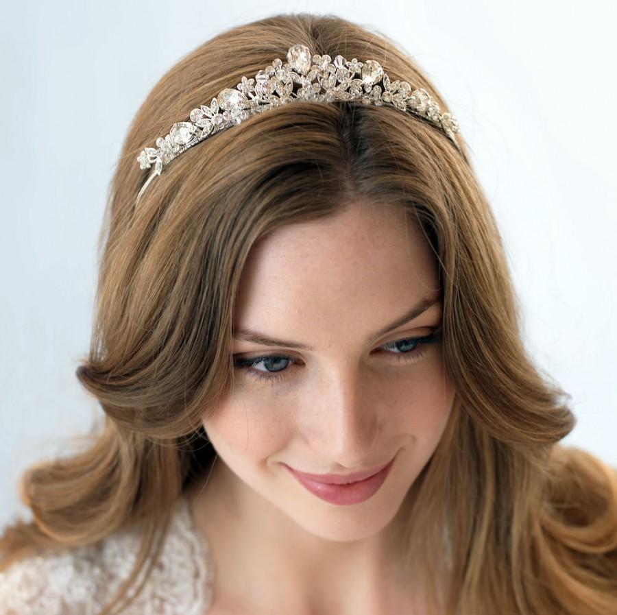 Boda - Swarovski Crystal Tiara, Vintage Bridal Tiara, Bridal Hair Accessory, Crystal Wedding Crown, Crystal Wedding Tiara,Bridal Headpiece ~TI-3008