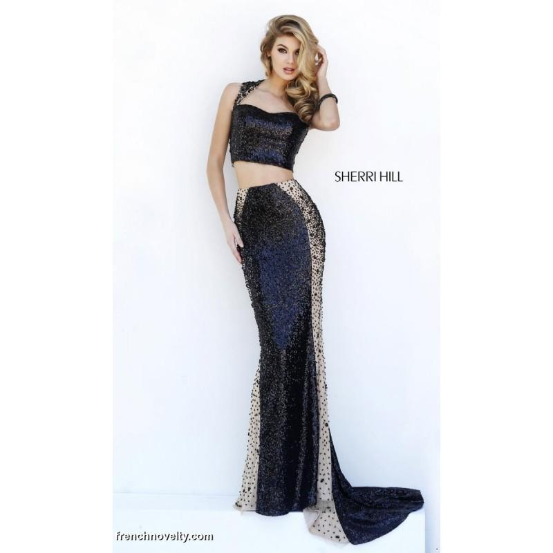 Wedding - Sherri Hill 32298 Two Piece Beaded Long Dress - Brand Prom Dresses