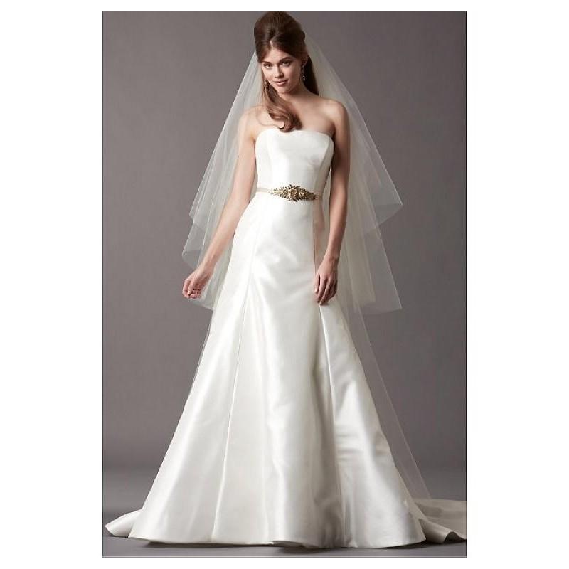 Свадьба - Gorgeous Satin & Stretch Charmeuse A-line Strapless Neckline Wedding Dress - overpinks.com