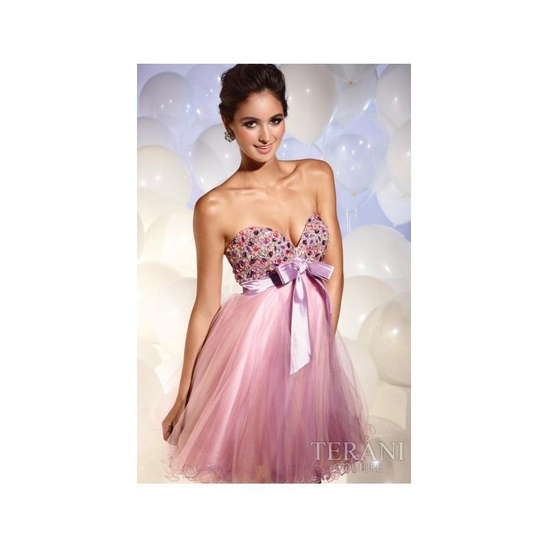 Свадьба - Terani Colorful Stone Bodice Short Prom Dress P686 - Brand Prom Dresses