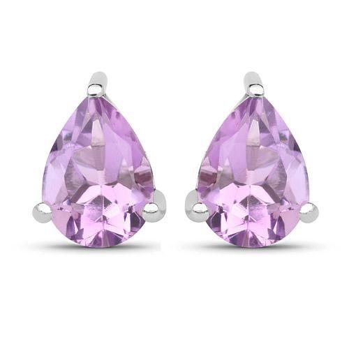 Свадьба - 1.25CT Pear Cut Lavender Amethyst Stud Earrings