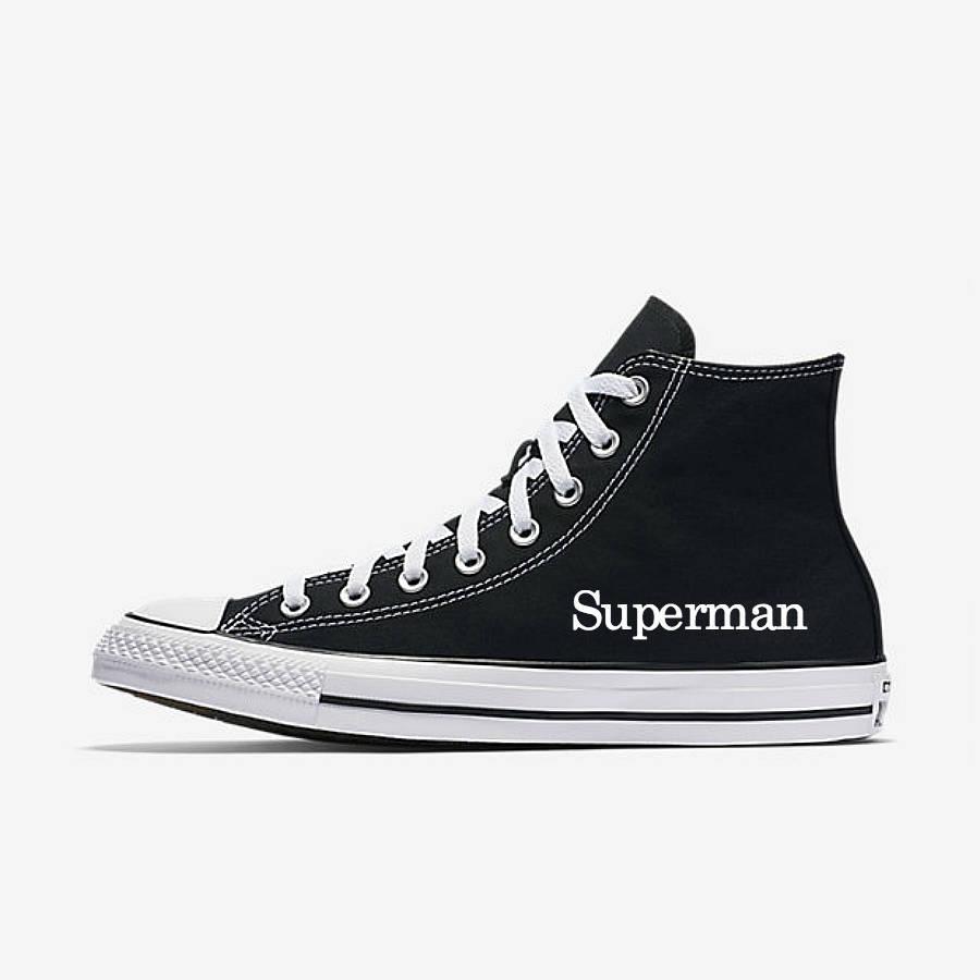 Свадьба - Wedding Shoes Black Groom Chucks Groom's Gift Superman Wedding Converse Gift for the Groom Wedding Gift Black Chucks, Groom's Converse Shoes