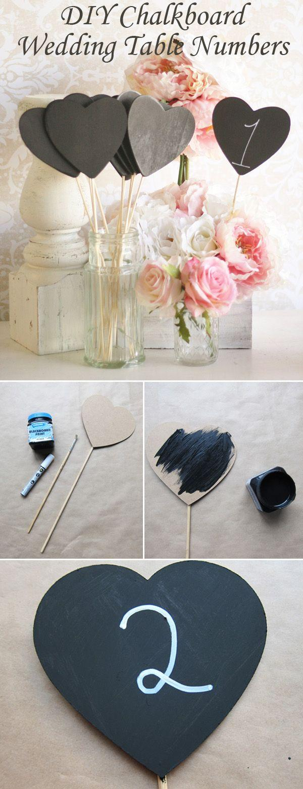 Wedding - Top 10 DIY Wedding Table Number Ideas With Tutorials