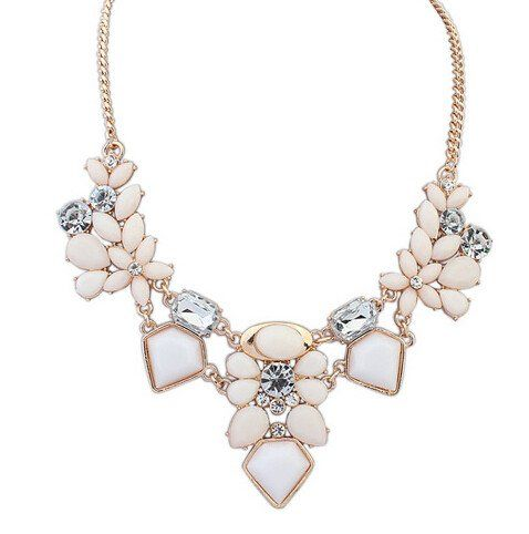 Mariage - New Arrival Resin Fashion Colorful Cute Charm Gem Flower Choker Necklaces & Pendants