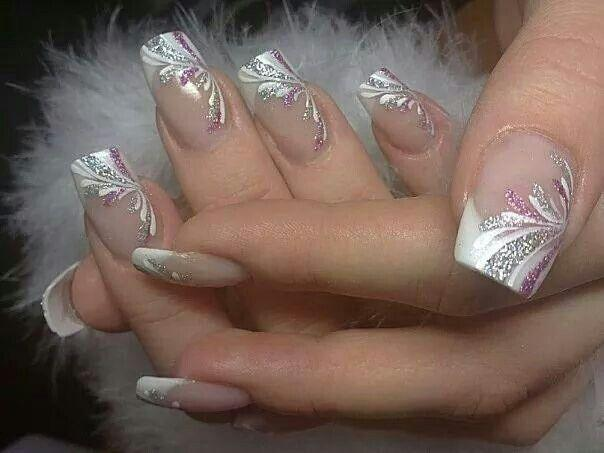 Nail Art On French Manicure