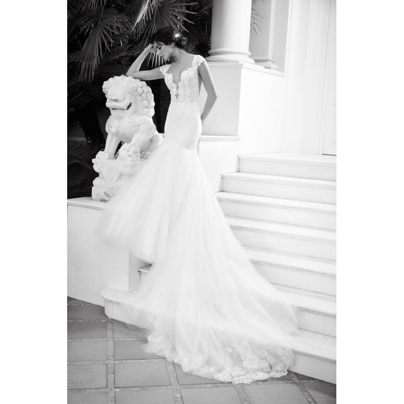Hochzeit - Alessandra Rinaudo 2018 LISA Sweet Ivory Chapel Train Sweetheart Cap Sleeves Mermaid Beading Lace Dress For Bride - Fantastic Wedding Dresses