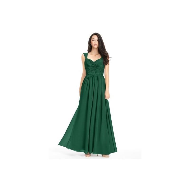 Hochzeit - Dark_green Azazie Amya - Scoop Floor Length Chiffon Sweetheart Dress - Charming Bridesmaids Store