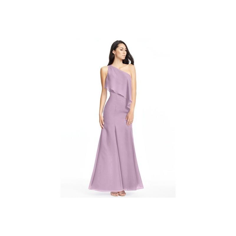 Hochzeit - Wisteria Azazie Nadia - Side Zip One Shoulder Chiffon Floor Length Dress - Charming Bridesmaids Store
