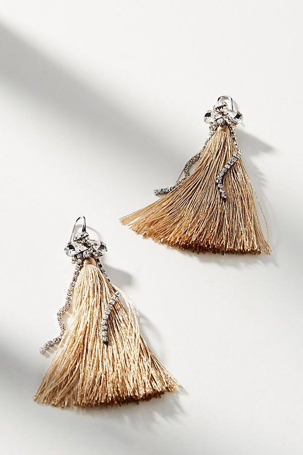 Свадьба - Sparkle Tassel Drop Earrings