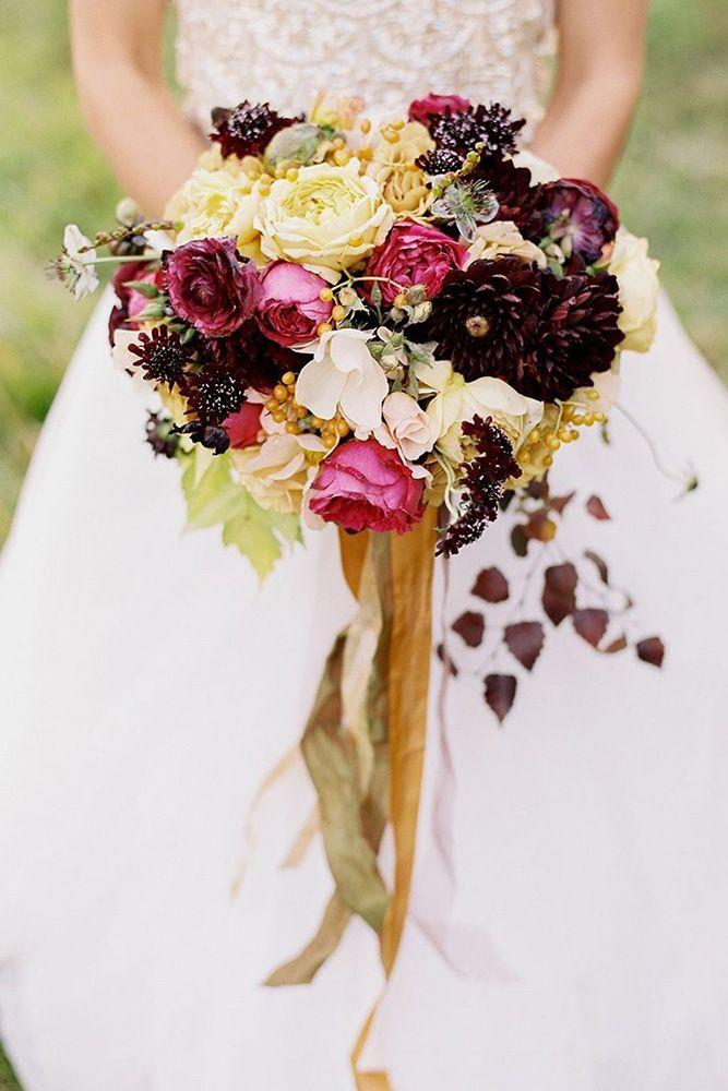 Wedding - 30 Bohemian Wedding Bouquets That Are Totally Chic