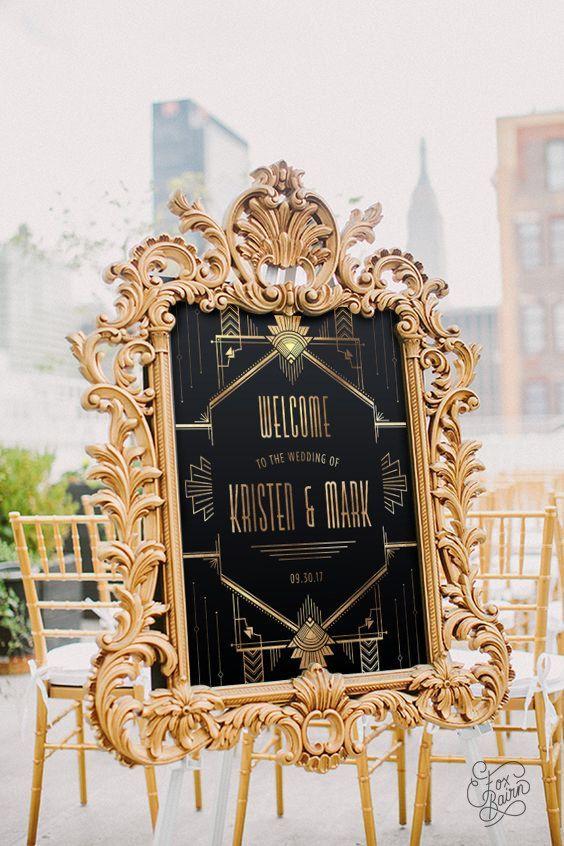 Wedding - 15 Glamorous Great Gatsby Wedding Decorations