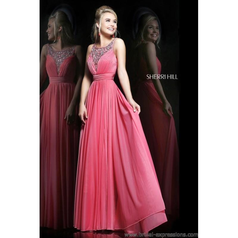 Sherri Hill 1552 Lace And Jersey Prom Dress - Crazy Sale Bridal ...