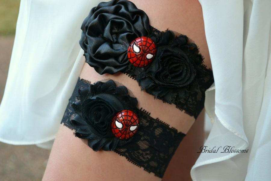 Mariage - Spiderman Bridal Garter Set
