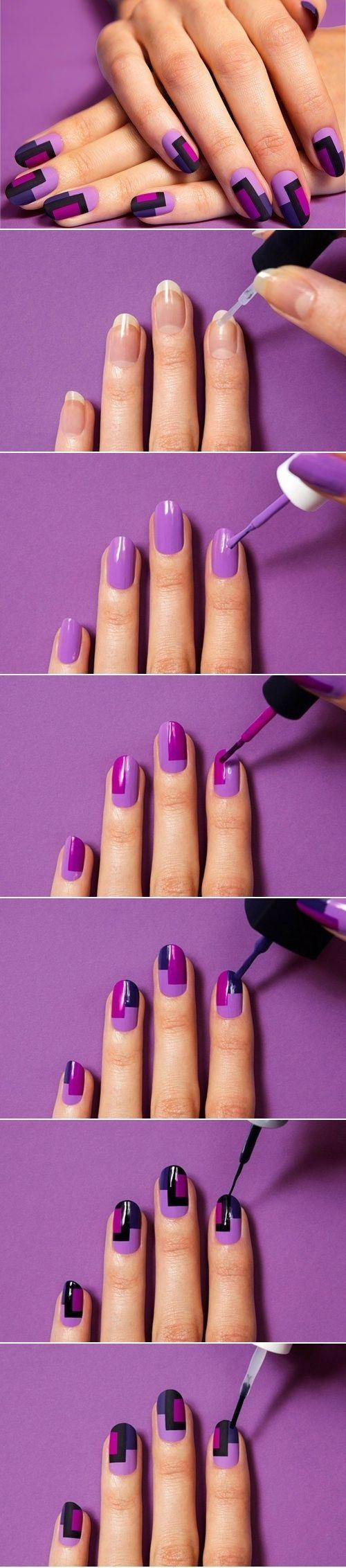 زفاف - Purple Nail Art