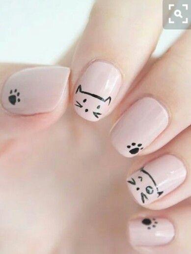 Hochzeit - Minimal Animal Nail Art