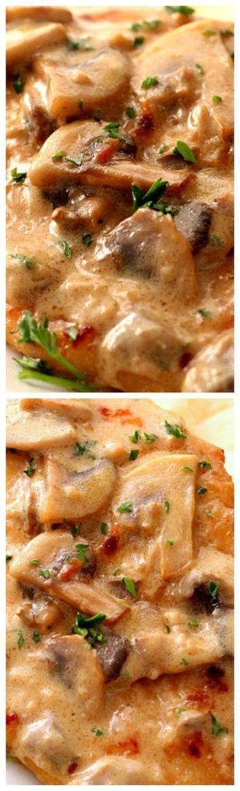 Hochzeit - Creamy Mushroom Garlic Chicken